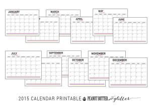 Calendar Printable Button